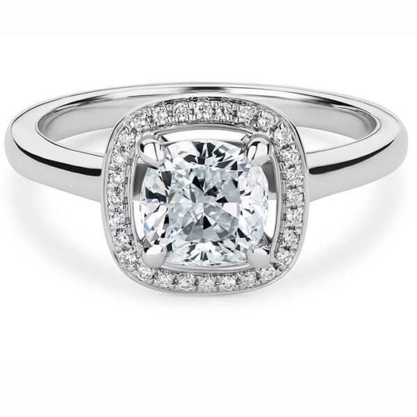 δαχτυλίδι λευκόχρυσο γάμου για μια μοναδική πρόταση