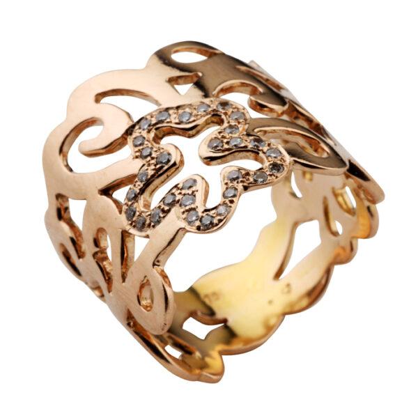Δαχτυλίδι αρραβώνων με διαμάντια ροζ χρυσό-shop online ketsetzoglou.gr