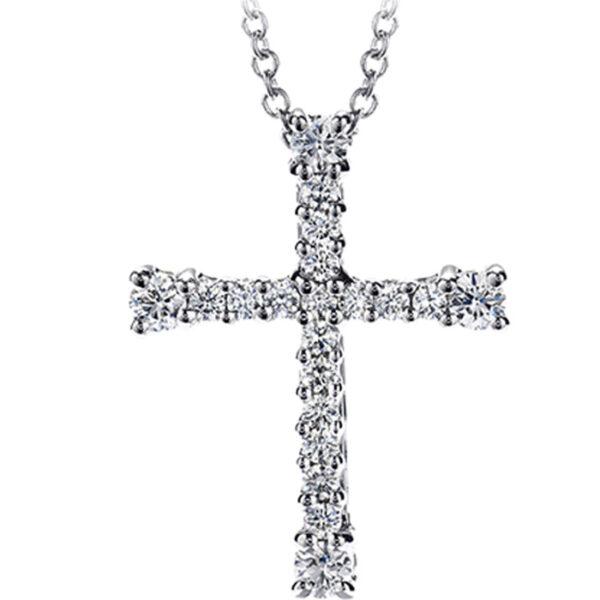 βαπτιστικός σταυρός με μπριγιάν