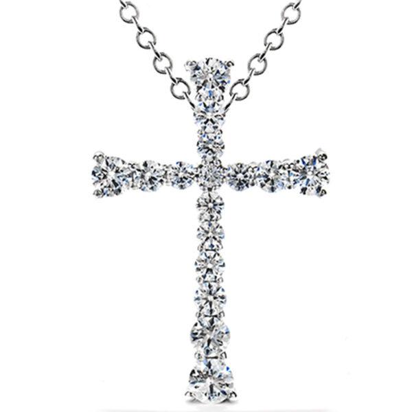 Λευκόχρυσος σταυρός με διαμάντια