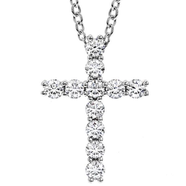 λευκόχρυσος σταυρός με μπριγιάν σε νέες δημιουργίες