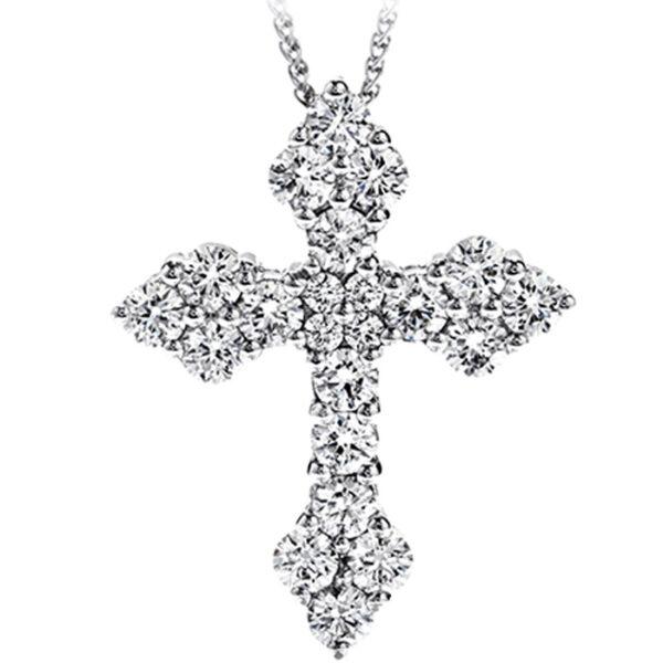 σταυρός λευκόχρυσος με διαμάντια