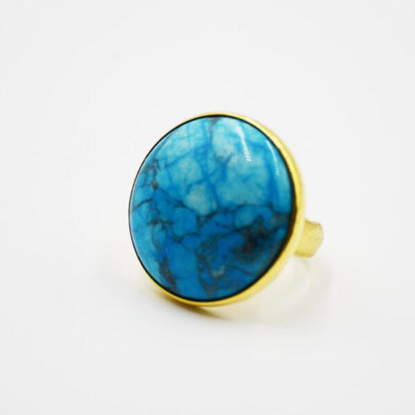 δαχτυλίδι ασημένιο με τυρκουάζ πέτρα