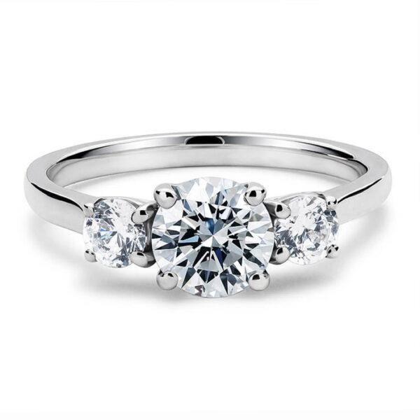 Μονόπετρο δαχτυλίδι μπριγιάν με λαμπρή πολυτέλεια