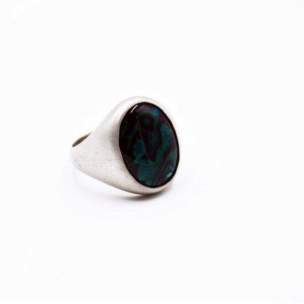ανδρικό δαχτυλίδι χειροποίητο με ματ φινίρισμα