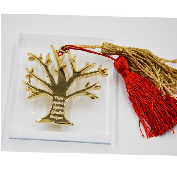 γούρι δέντρο των ευχών πολυτελή φούντα