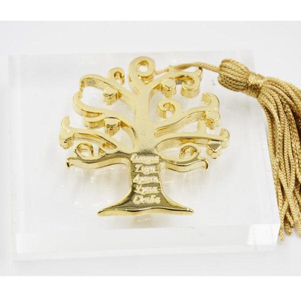 γούρι με δέντρο των ευχών σε press papier