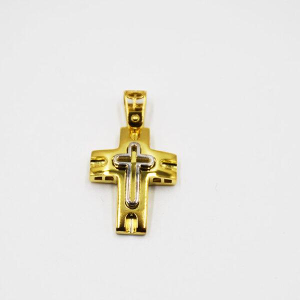δίχρωμος σταυρός βάπτισης σε νέα σχέδια