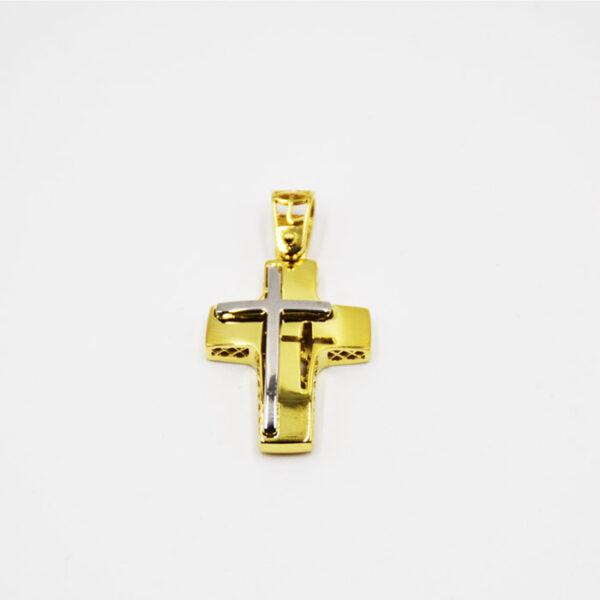 δίχρωμος σταυρός βάπτισης με νέο design