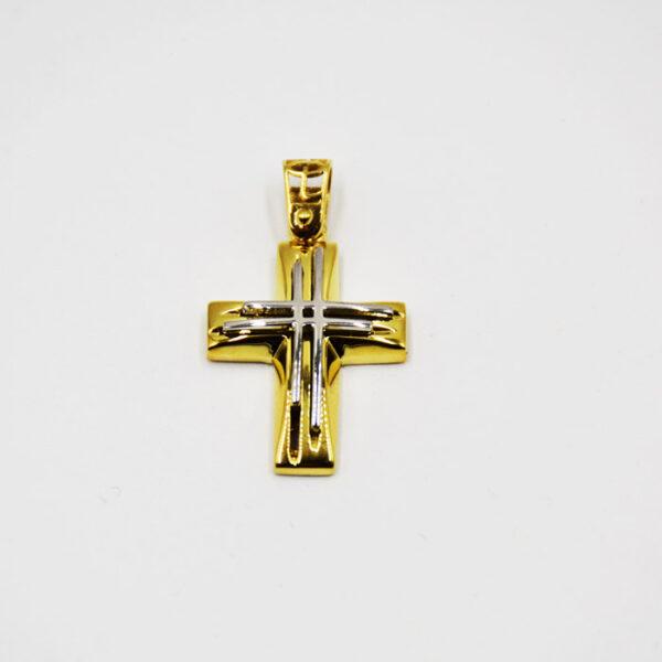 εκπληκτικός σταυρός βάπτισης δίχρωμος