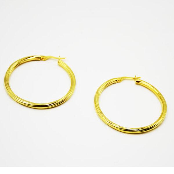 σκουλαρίκια ασημένια σε κίτρινο χρυσό