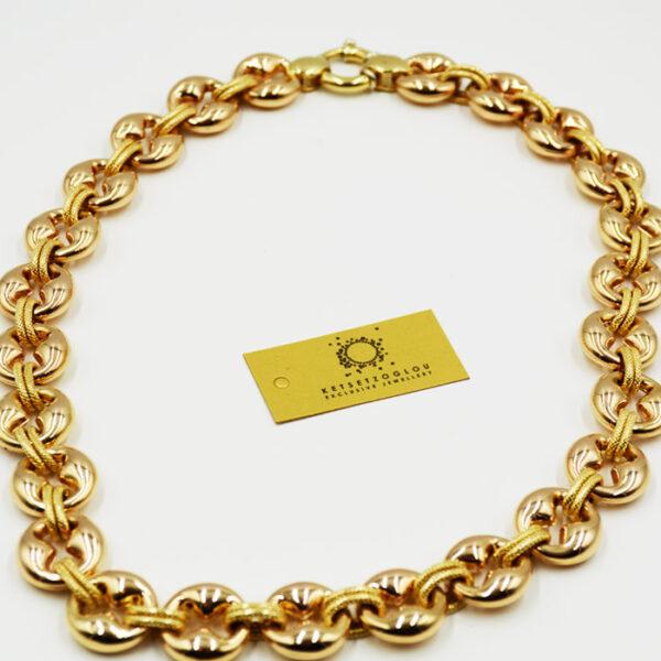 κολιέ κόσμημα σε κίτρινο χρυσό υψηλής ποιότητας