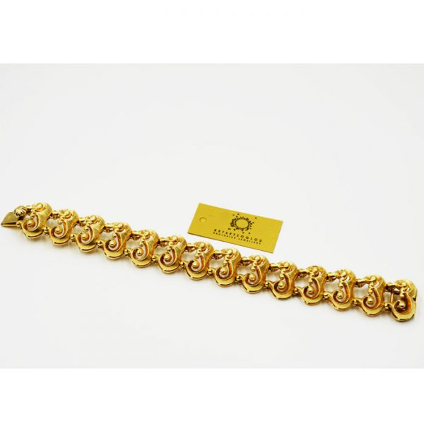 βραχιόλι σε κίτρινο χρυσό με ιδιαίτερο σχέδιο