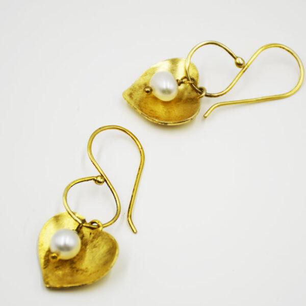 ασημένια σκουλαρίκια με πέρλες