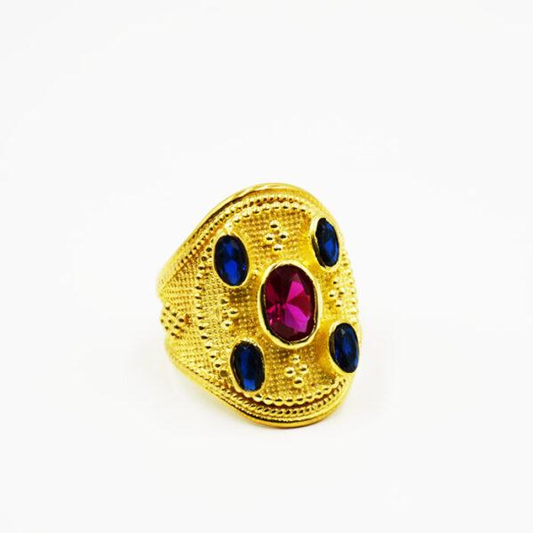 ασημένια βυζαντινά δαχτυλίδια χρυσά