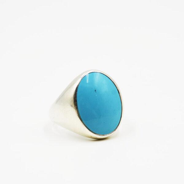ασημένιο δαχτυλίδι χειροποίητο με πέτρα τυρκουάζ