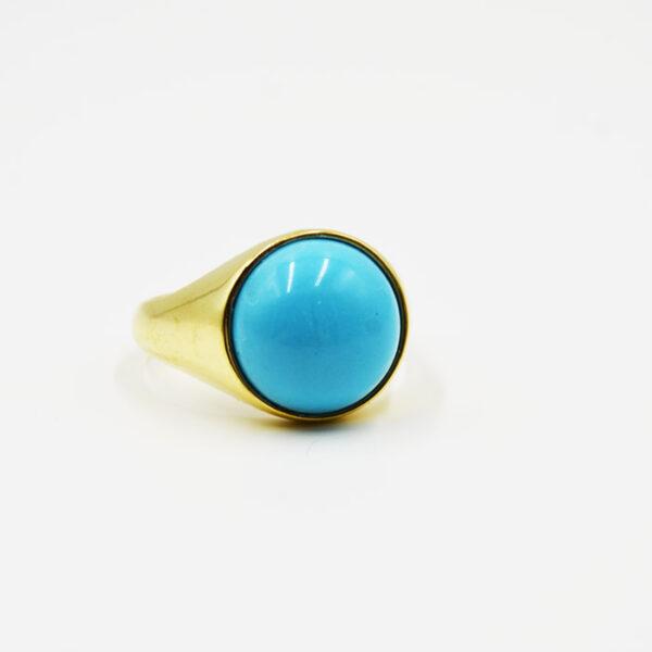 γυναικείο δαχτυλίδι ασημένιο με τυρκουάζ πέτρα
