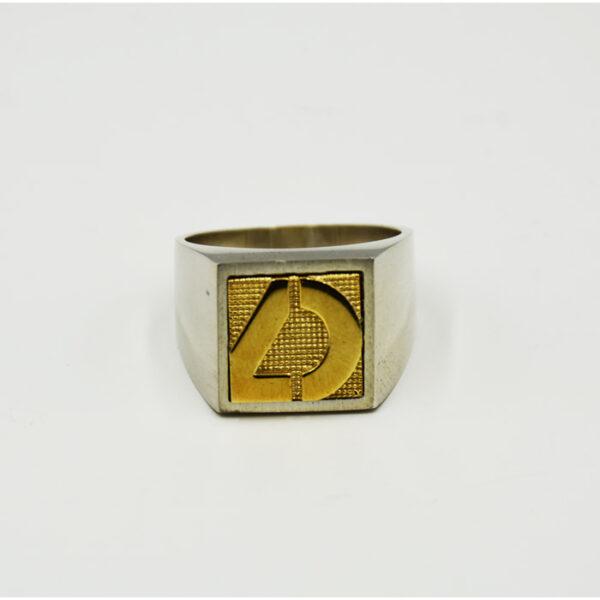 δαχτυλίδι ασημένιο με το λογότυπο της επιχείρησης