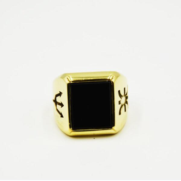 ανδρικό δαχτυλίδι χειροποίητο