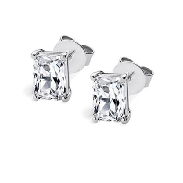 μονόπετρα σκουλαρίκια με διαμάντι