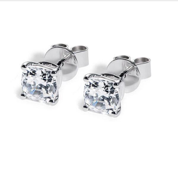 λευκόχρυσα σκουλαρίκια με διαμάντι