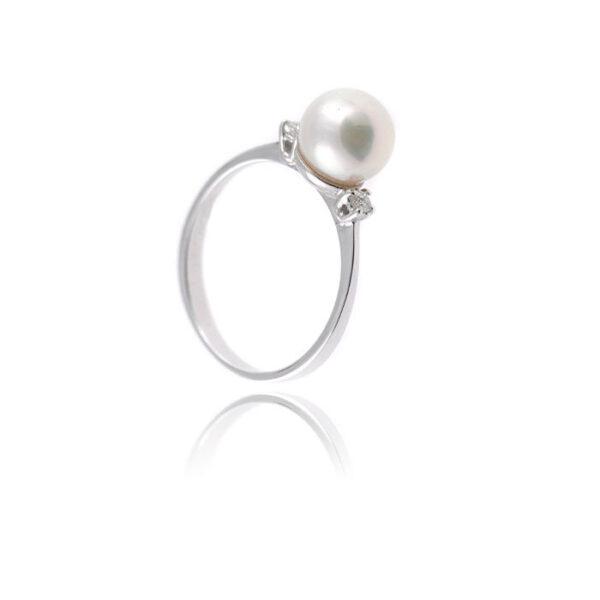 δαχτυλίδι μαργαριτάρι μονόπετρο