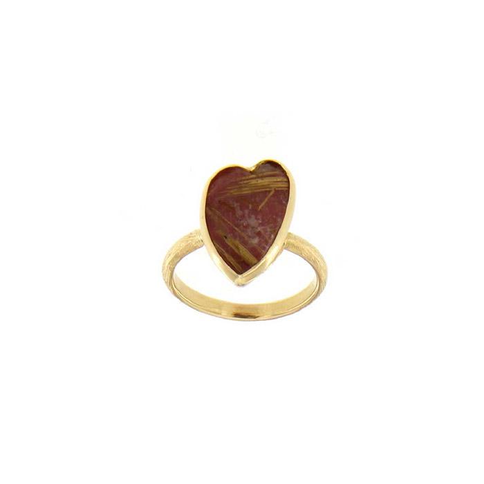 Δαχτυλίδι κόσμημα Κ18 κιτρινό χρυσο χειροποίητο Rainbow Collection