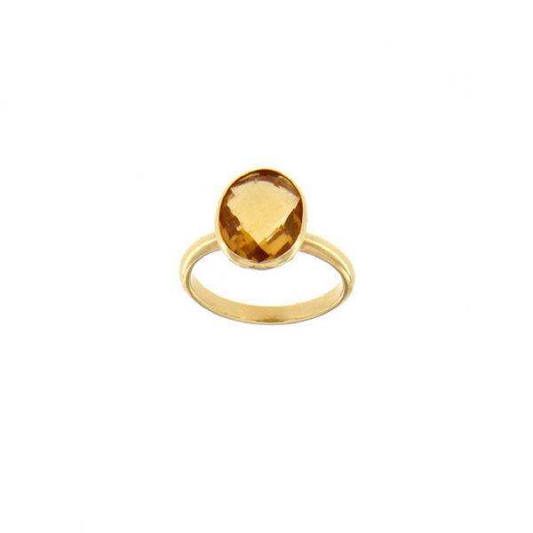 Δαχτυλίδι με ημιπολυτίμους λίθους 18Κ - Kosmima-Rologia.gr