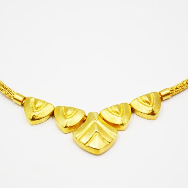 Χειροποίητο κολιέ Κ18 κίτρινο χρυσό