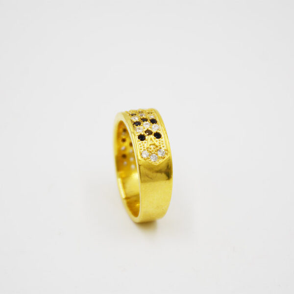 Δαχτυλίδι γυναικείο ασημένιο με μονόγραμμα σε κίτρινο χρυσό