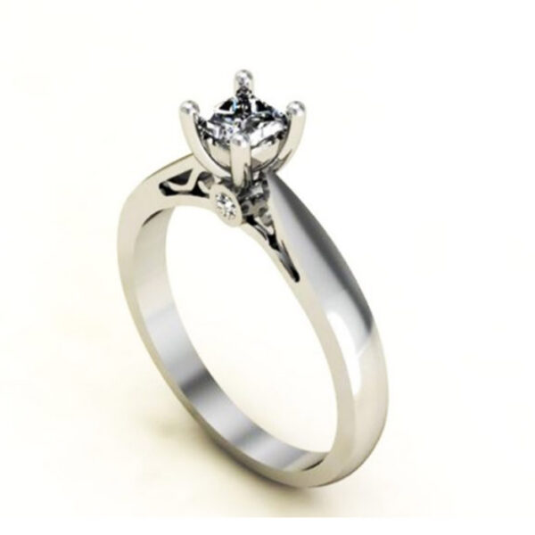 Princess μονόπετρο δαχτυλίδι 18Κ