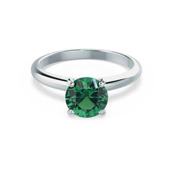 Δαχτυλίδι για πρόταση γάμου λευκόχρυσο με σμαράγδι