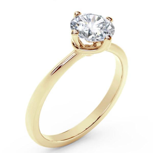Μονόπετρα δαχτυλίδια Ketsetzoglou σε κίτρινο χρυσό για πρόταση γάμου