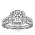 Ιδιαίτερο μονόπετρο δαχτυλίδι με διαμάντια υψηλής αισθητικής