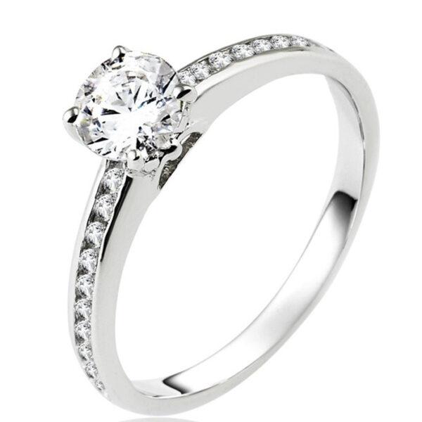 Μονόπετρο δαχτυλίδι μπριγιάν κομψό και εντυπωσιακό