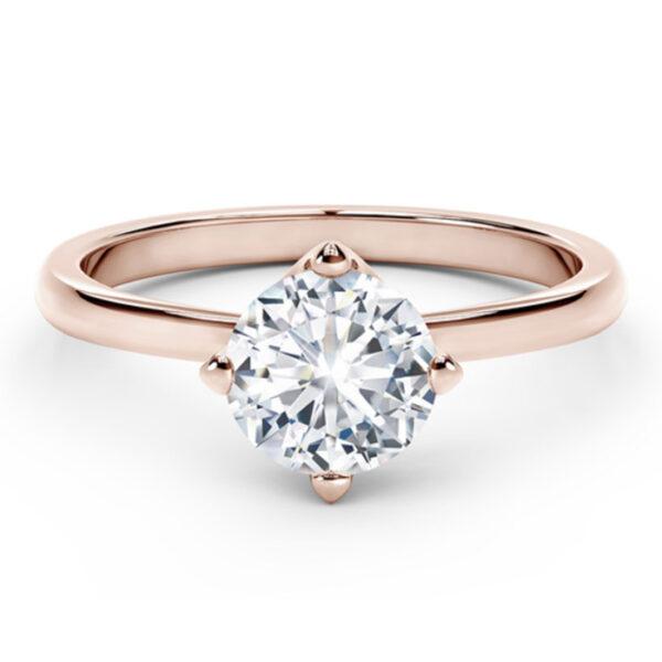 Μονόπετρα δαχτυλίδια μπριγιάν σε ροζ χρυσό για πρόταση γάμου