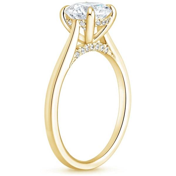 Δαχτυλίδι με διαμάντια κίτρινο χρυσό