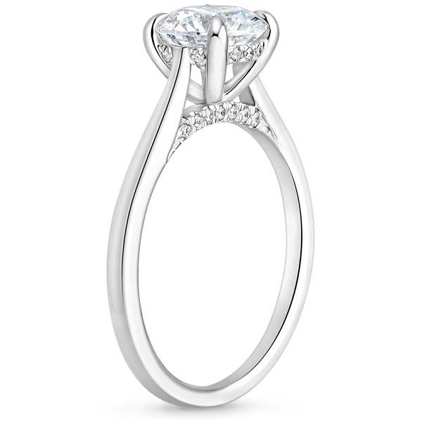 Δαχτυλίδι με διαμάντια λευκόχρυσο