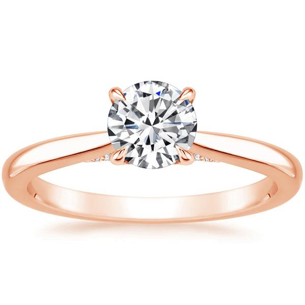 Δαχτυλίδι με διαμάντια ροζ χρυσό