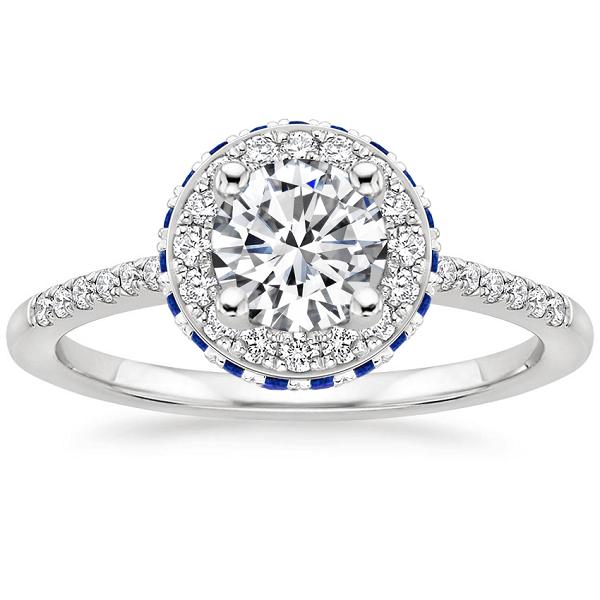 Vintage δαχτυλίδια με διαμάντια και ζαφείρια