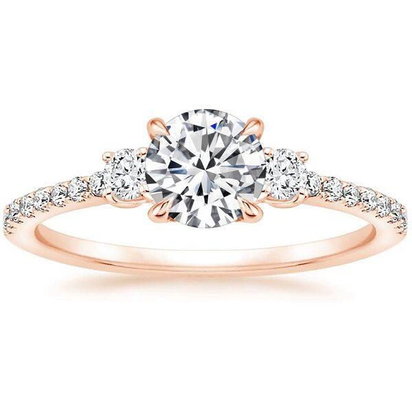Δαχτυλίδια γάμου με διαμάντια ροζ χρυσό