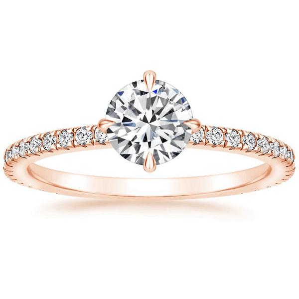 Vintage δαχτυλίδι ροζ χρυσό αρραβώνα