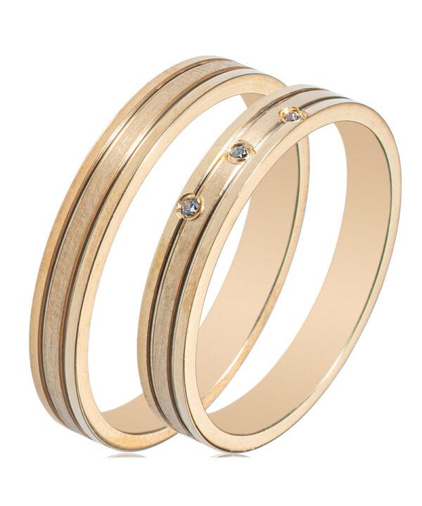 Βέρες για γάμο σε κίτρινο χρυσό 14Κ
