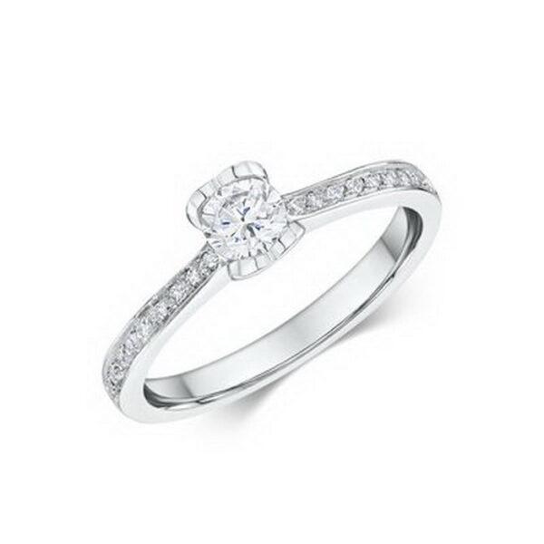 Μονόπετρα δαχτυλίδια με διαμάντια πιστοποιημένα