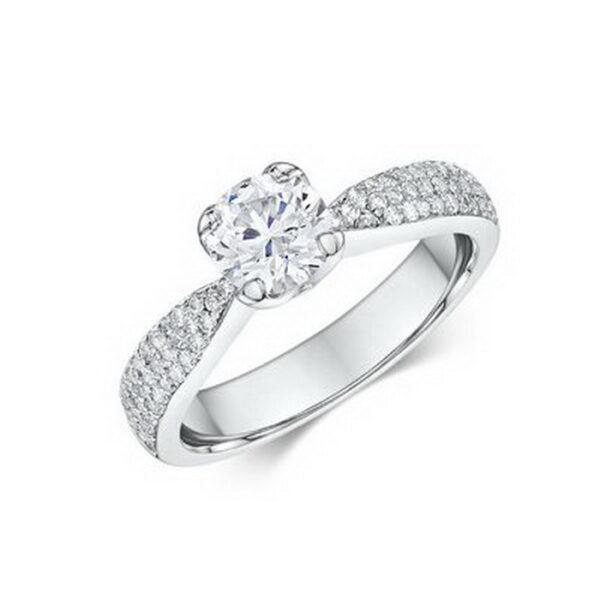Μονόπετρα δαχτυλίδια πιστοποιημένα με διαμάντια