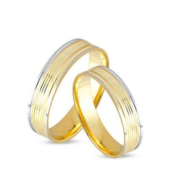 Πρωτότυπες βέρες γάμου και αρραβώνα δίχρωμες