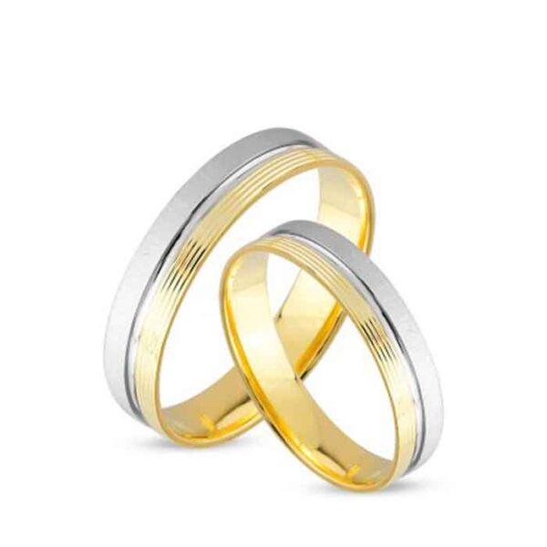 Βέρες γάμου σε λευκόχρυσο και χρυσό 14Κ
