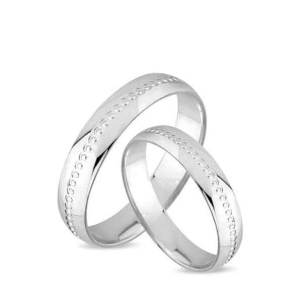 Βέρες λευκόχρυσες υψηλής αισθητικής για γάμο